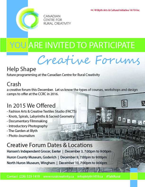 2015 CCRC Creative Forums Poster