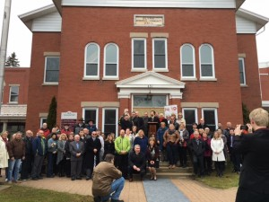 Over sixty citizens of Huron County showed up for the announcement on March 15, 2016.